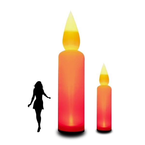 CANDLE - aufblasbare Kerze in 2 Varianten