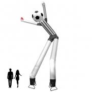 2-beiniger Skydancer Schiri mit Fußball Kopf