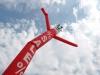 Airdancer Branding mit aufgenähten Buchstaben