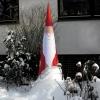 Weihnachtsmann Aircone im Winter Outdoor