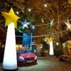 Weihnachtsstern aufblasbar und leuchtend